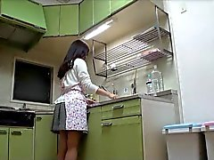 Melenuda Milf Japón Mierda En Cocina