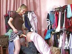 Diana blonde strapon schoolgirl