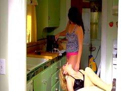 Alison Tyler & Katie Summers fuck in the kitchen