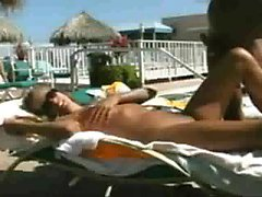 pool sex with slut from online club