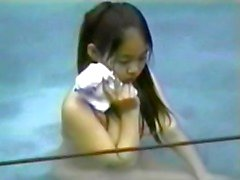 Aziatische meisjes voyeur