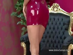 Red Mini Latex Dress