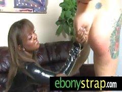 Strapon dildo toy amazing interracial lesbians 29