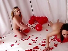 Fetish teens pop balloons