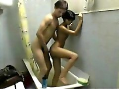 Amateur Paar Super Badezimmer Fick