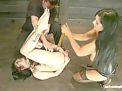 Asphyxia is tormented by dominatrix Isis Love