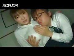 big boobs office lady big tits sexual harassment 02