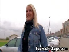 Extremely hot blonde Beata have hot public sex and got paid