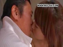 A horny nympho nurse and sick pervy doctor get nasty on the bed
