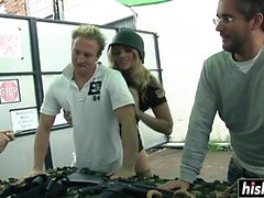 Hot army girls get pounded hard