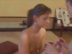 Lésbicas magros amordaçar bocetas cabeludas