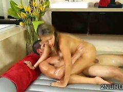 Perv loses his mind and fucks his gorgeous private masseur