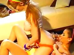 College Teens Faye Reagan And Georgia Jones Use T