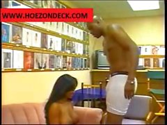 Ebony whore gets some action at the office from her black boss