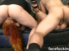 Orion Starr & Kimberly Chi epic 4 Way deep throat Fuck Fest