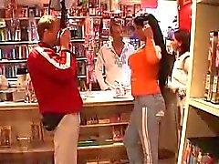 Dark Haired Girl Nailed in Porn Shop