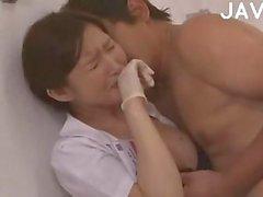 Horny Asian Nurse Take It All