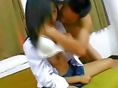 Asian school girl gets fucked