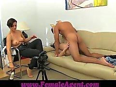 FemaleAgent Stud gets stage fright