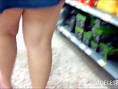 upskirt around the shops