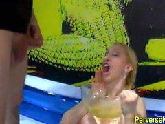 Pissing ho face creamed