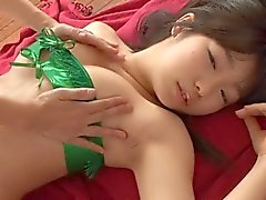 oil massage for a gravure idol
