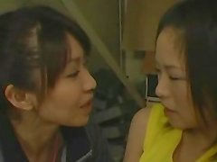 Japanese Cheerleader Kissing Her Lesbian Coach