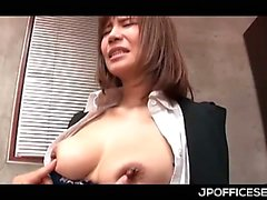 Jap busty secretary getting assets teased in her bosses office