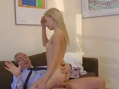 Blonde Teen and her Old Daddy