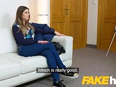 Fake Agent Sexy models tight pussy gets fucked