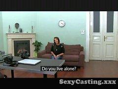 Casting Hot Italian babe sucks and fucks