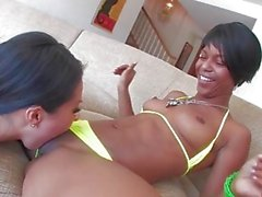 Hot girl on girl fun with Asa and Marie