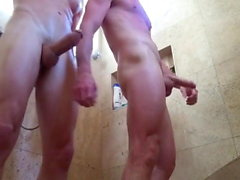 BigCMen Jared Calls Cory to the Shower for Some Daddy Dick