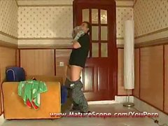 Fat Mature housewife banged by horny guy