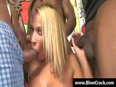 Bukkake party - Sexy sluts facial cumshot and interracial porn 19
