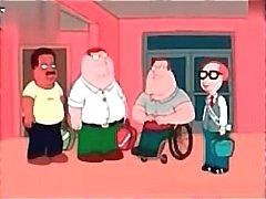 Anime Family Guy får stoppa sin kuk i sin redhead hustru ass