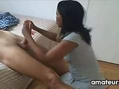 Ebony Maid Gives Pleases A Guests Cock
