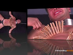 Italian Stud Tortured Homosexuell Bondage BDSM Uncut Muskel Twink