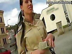 Petite gf Tea Key rides on strangers hard cock for money