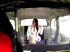 FakeTaxi Sweet brunette falls for sugar daddy charm