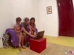 Gizli kamera ile lanet iki İspanyol kız