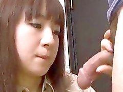 Grandes galos de agradar pau sugando Hitomi Fujihara