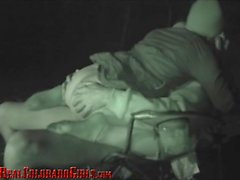 Petite Teen And Old Man Climax Together - Outdoor Creampie