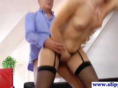 Stockings brit cockriding olderguy