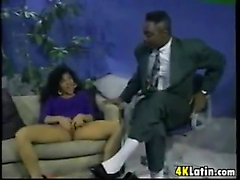 Interracial Threesome With A Latina Classic