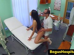 Euro patient fingered and fucked by doctor