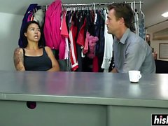 Dana Vespoli gets nailed by her man