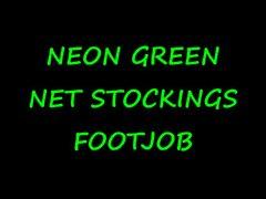 fireflys Neon Net Stockings Footjob