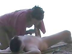 Amateur Couple on beach