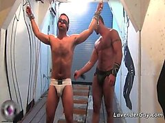 Kinky BDSM gay scene with spanking part5